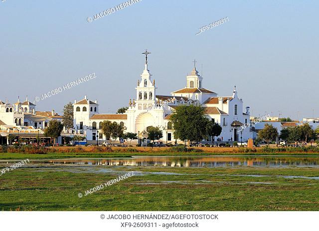 El Rocío hermitage.Almonte.Huelva province.Andalusia.Spain