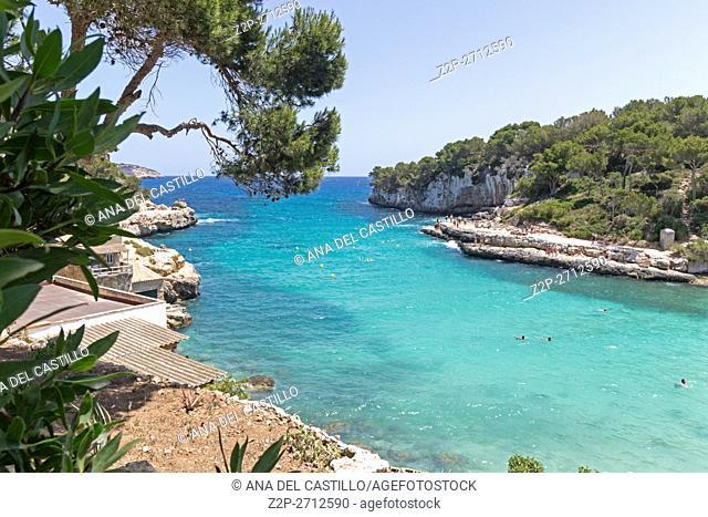 Turquoise beach in Majorca Balearics Spain