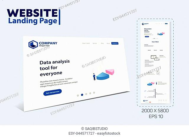 Landing Page Website Theme Template Design