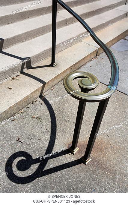 Handrail and Shadow, Sayles Hall, Brown University, Providence, Rhode Island, USA