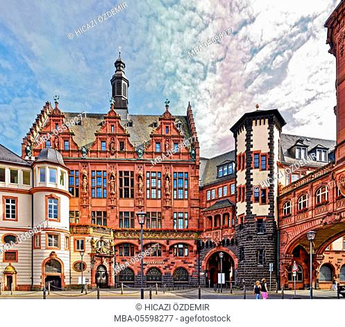 City hall, Römerberg, Frankfurt on the Main, Germany