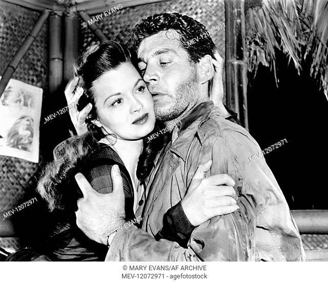 Angie Dickinson & Gene Barry Characters: Lucky Legs & Sgt. Brock Film: China Gate (1952) Director: Samuel Fuller 22 May 1957