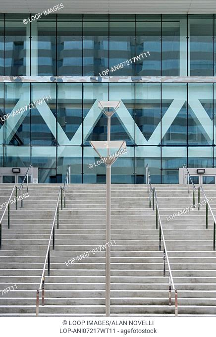 Modern steel and glass architecture of Baltimore Convention Center