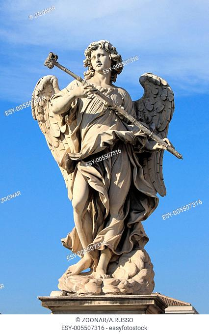 Angel statue in Saint Angel bridge. Rome
