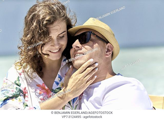 lovers, holiday, summer, couple