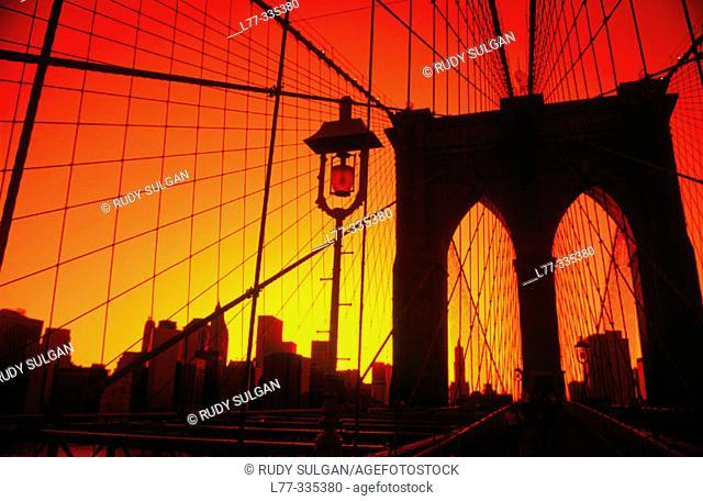 Brooklyn Bridge. New York City, USA