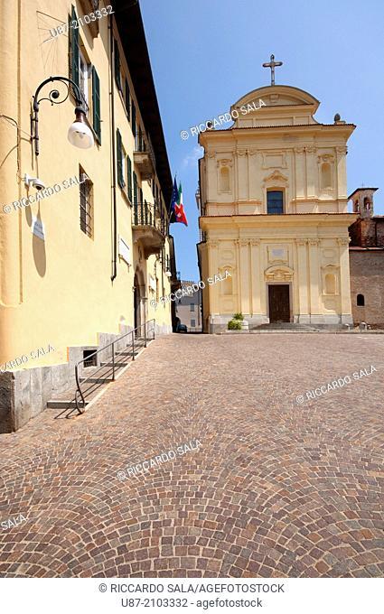 Italy, Piedmont, Maggiora, Santo Spirito Church