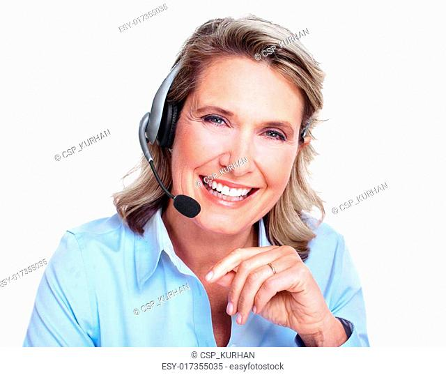 Customer service representative woman