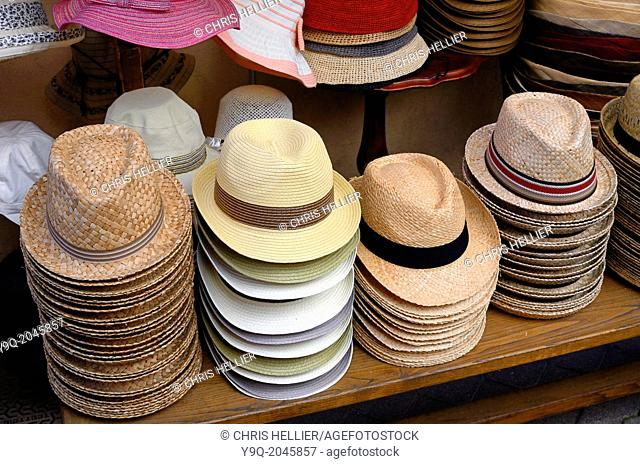 906151ca0cf Display of Straw Hats fro Sale Castellane France.