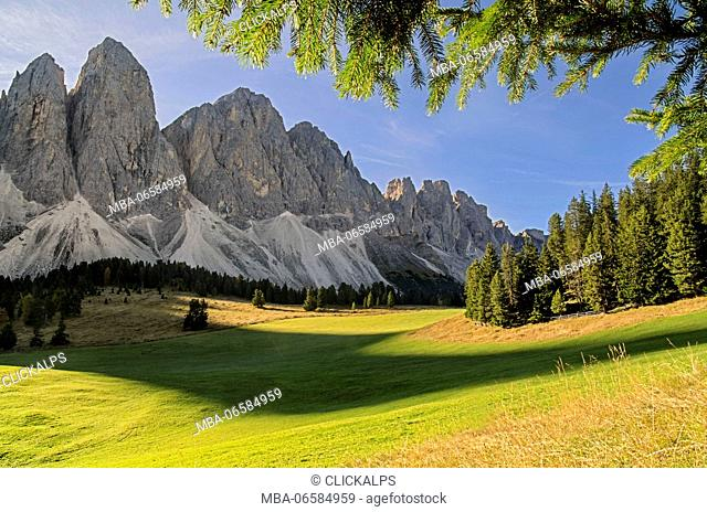 Odle Puez, Natural Park, Val Funes, Trentino Alto Adige South Tyrol, Italy