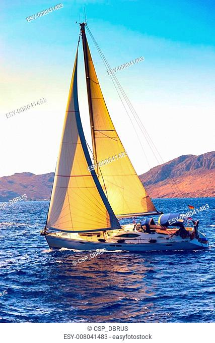 boat with a sail