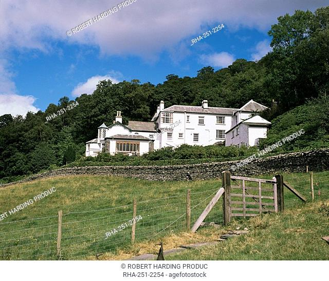 Brantwood, home of the writer John Ruskin between 1872 and 1900, Cumbria, England, United Kingdom, Europe