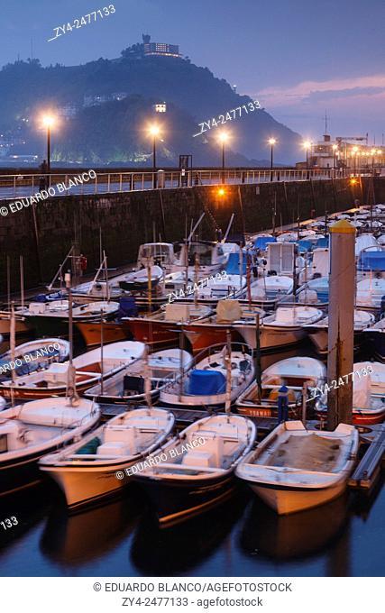 Port of Donostia. San Sebastian. Euskadi. Vasque country. Spain. Europe