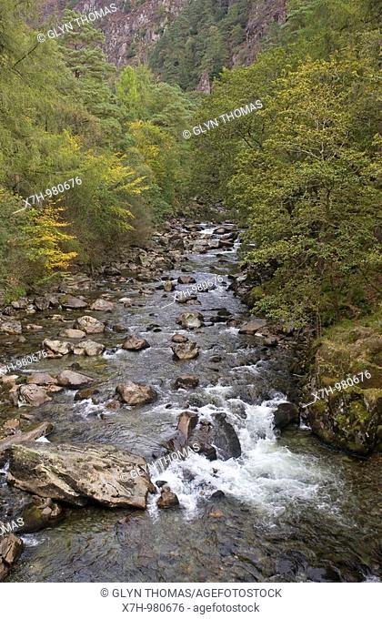 Aberglaslyn gorge, Snowdonia, North Wales