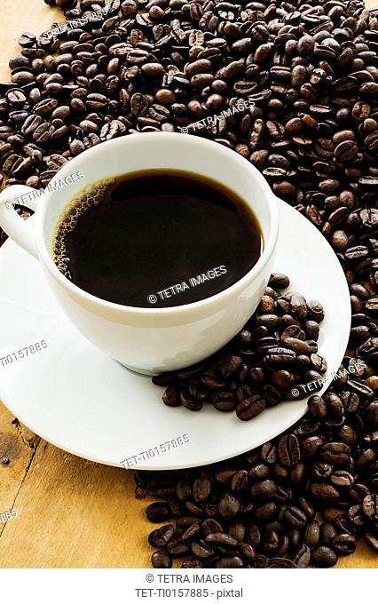 Cup of coffee, Studio shot