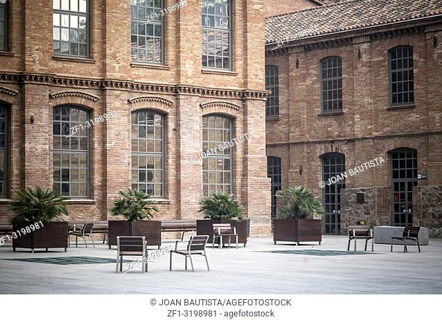 Ancient factory of cotton industry, Ca Aranyo, Poblenou quarter, english industrial building style, now hosts Pompeu Fabra University, Barcelona