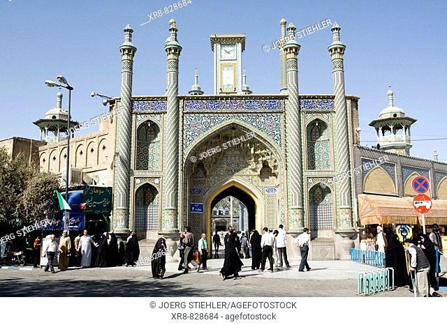 Iran, Qom, Shrine of Fatemeh Masoumeh, Mar`ashi Nadjafi Street
