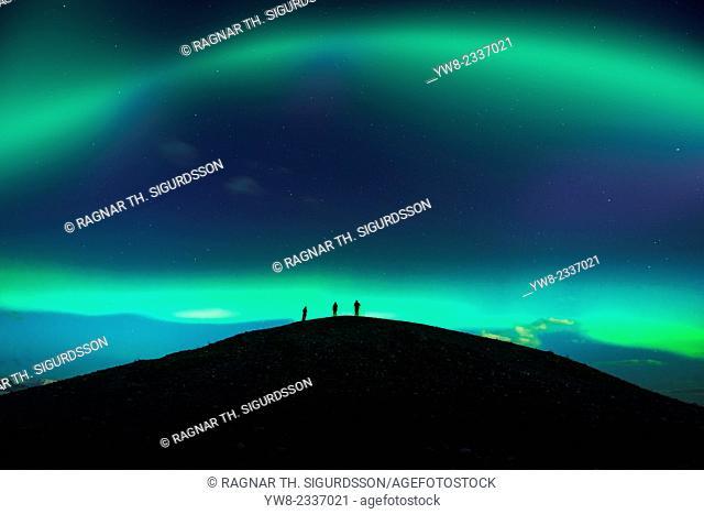 Photographing the Auroras and Icebergs at the glacial lagoon, Jokulsarlon-Breidamerkurjokull, Vatnajokull Ice Cap, Iceland