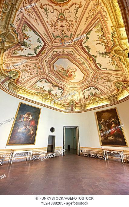 State Room of the Kings of Naples Royal Palace of Caserta, Italy  A UNESCO World Heritage Site
