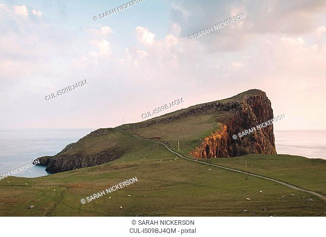 Neist Point lighthouse path, Orbost, Isle of Skye, Scotland, UK