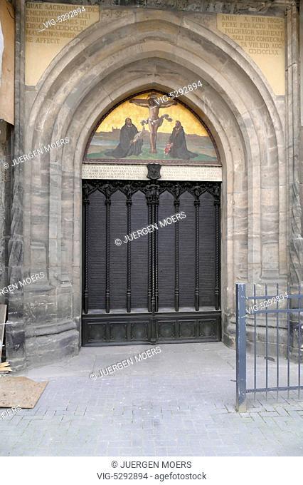 23.05.2015, Germany, Wittenberg, door of the Castle Church in Wittenberg . - Wittenberg, Germany, 23/05/2015