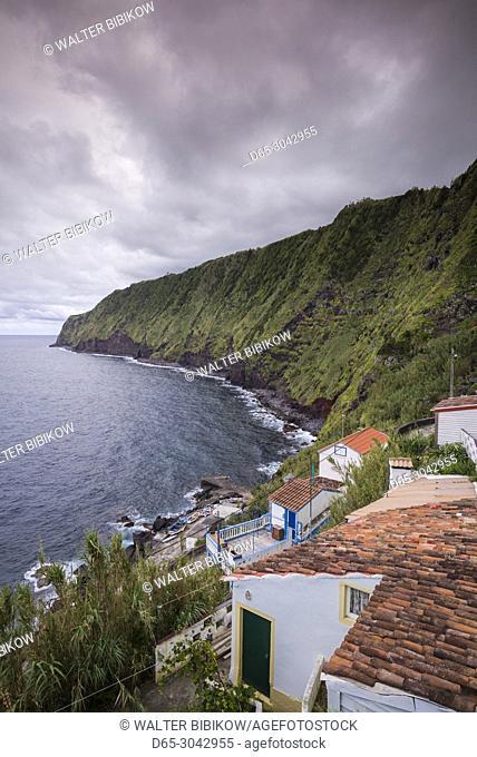 Portugal, Azores, Sao Miguel Island, Nordeste, Ponta do Arnel, coastal view