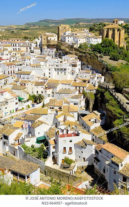 Setenil de las Bodegas. White Towns of Andalusia, Cadiz province, Andalusia, Spain