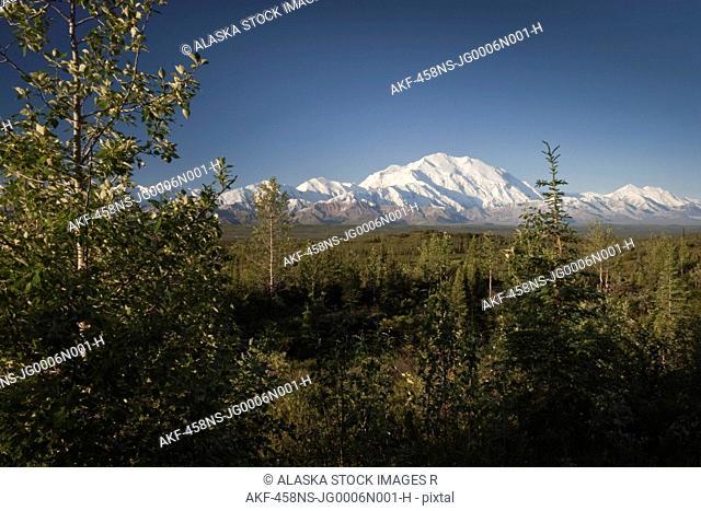 Scenic view of Mt. McKinley, Denali National Park, Interior Alaska, Autumn