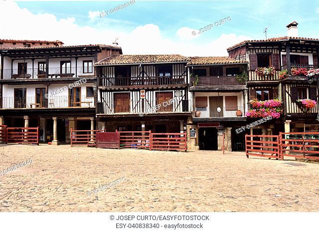 main square and bullring, La Alberca, Salamanca province, Castilla-Leon, Spain
