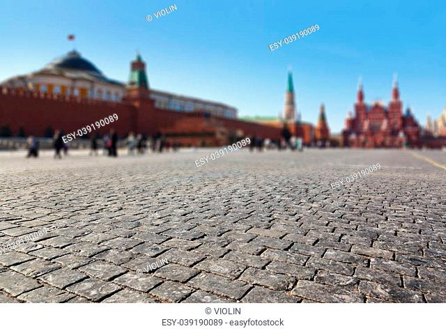 Red square at Kremlin Moscow (Russia)