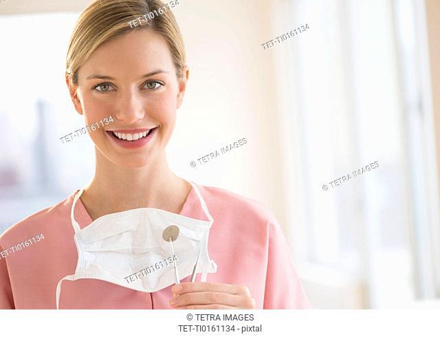 Portrait of female dentist