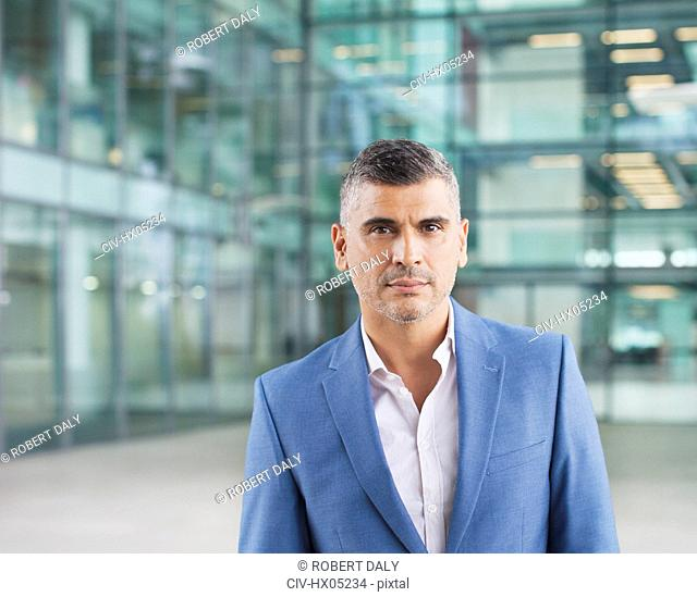Portrait confident businessman