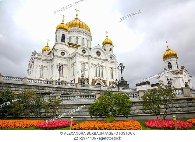 The Grounds at Cathedral of Christ Our Savior, kropotkinsky district, Moscow, Russia