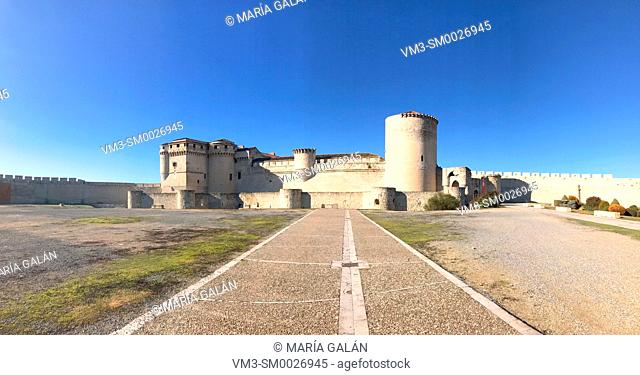 Medieval castle, panoramic view. Cuellar, Segovia province, Castilla Leon, Spain