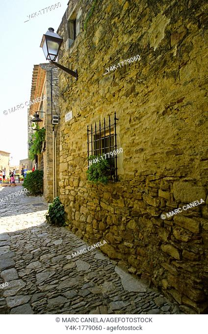 Europe, Spain, Girona, Peratallada, is a town in the municipality of Forallac, in the county of Baix Emporda, in Catalonia
