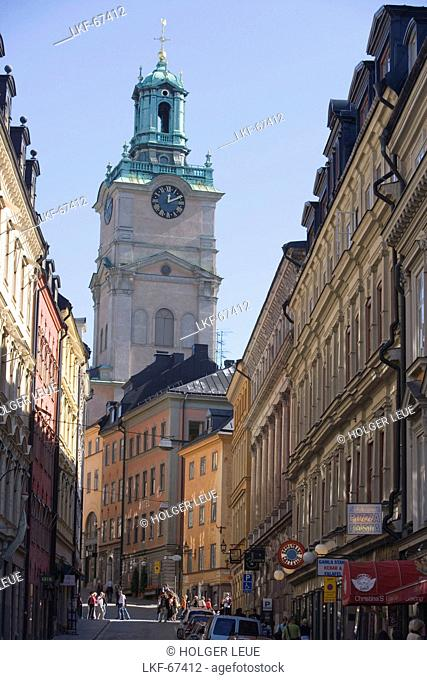 Gamla Stan Old Town and Storkyrkan Church, Stockholm, Sweden