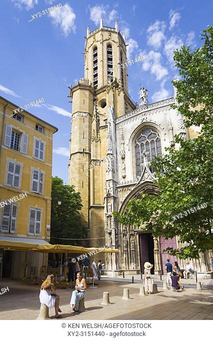 Aix-en-Provence, Provence-Alpes-Côte d'Azur, France. Cathedral of the Holy Saviour. Cathédrale Saint-Sauveur d'Aix-en-Provence. Exterior