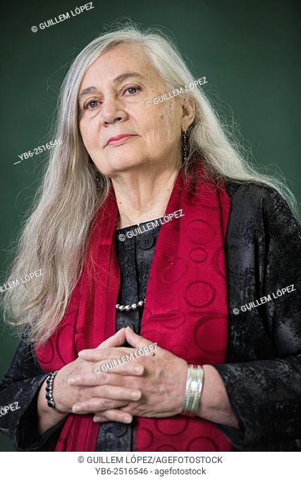 EDINBURGH, SCOTLAND, Saturday 15th, AUGUST 2015: American novelist and essayist Marilynne Robinson appears at the Edinburgh International Book Festival