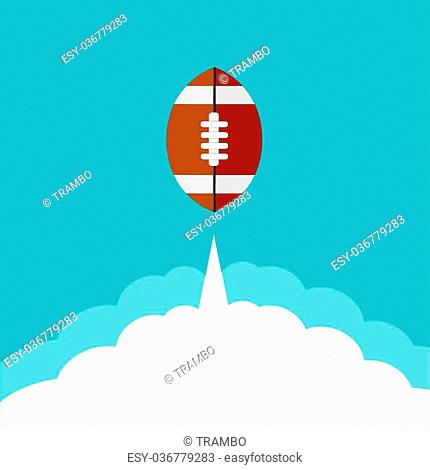 Vector flat modern rugby icon background. Eps10