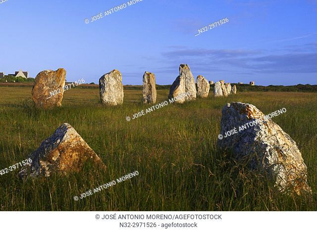 Lagatjar Megalithic stones, Alignements de Lagatjar, Department Finistère, Bretagne, Brittany, France, Europe