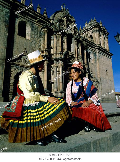 Americans, Costumes, Cuzco, Hats, Holiday, Landmark, Outdoors, People, Peru, South America, Peruvians, South, South america, Tou