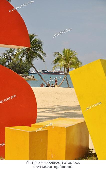 Singapore: Siloso Beach, in Sentosa island