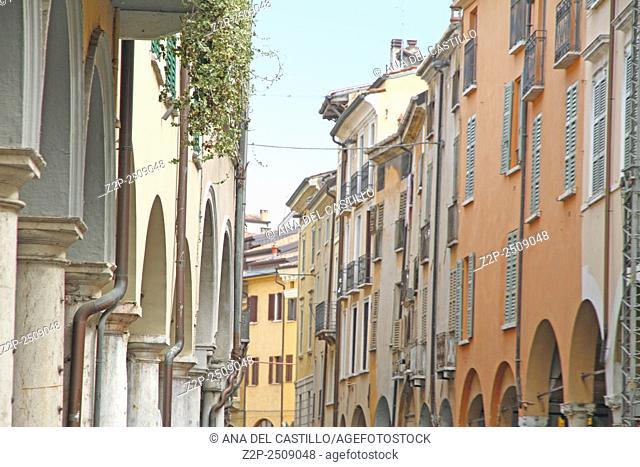 Arcades The historic city center of Mantova Lombardy (Italy)