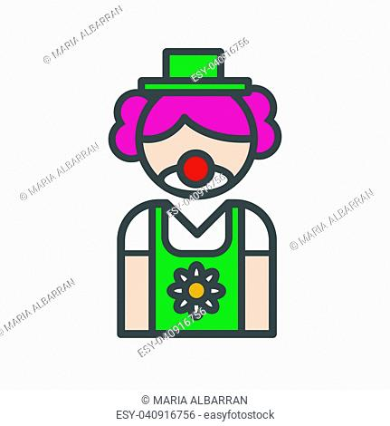 Clown avatar icon on white background