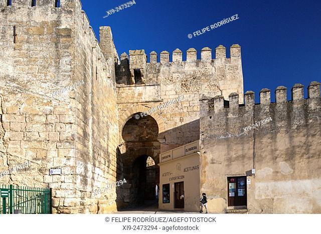 Puerta de Sevilla Sevilla Gate, Moorish city walls of Carmona, province of Seville, Spain