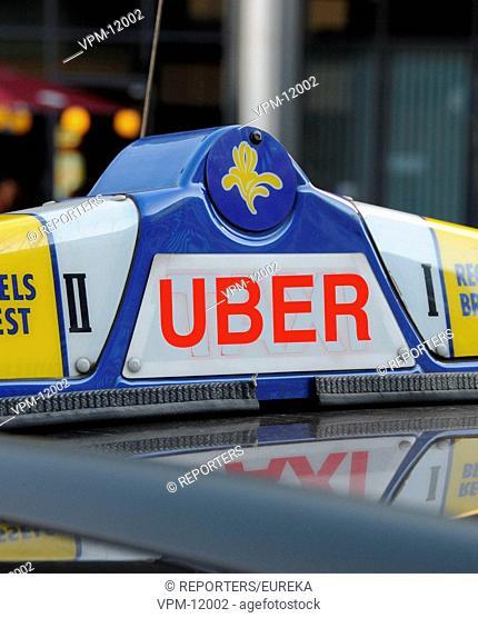 Launch of Uber transportation network in Brussels; arrivee de UBER sur le marche des transports de taxis urbains ; Reporters / EUREKA