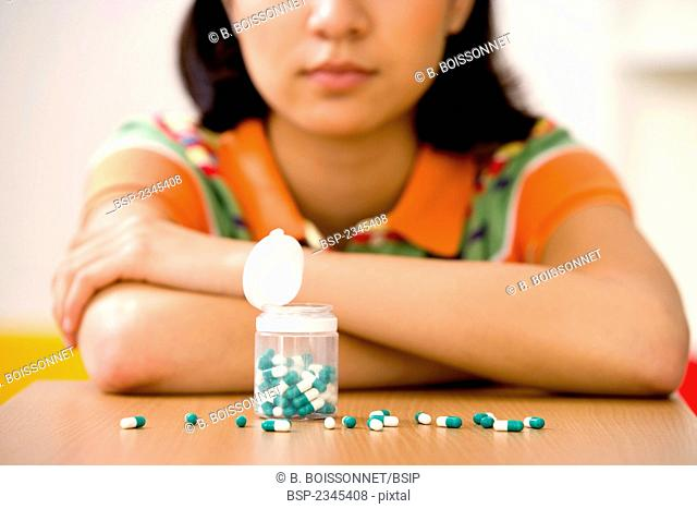 ADOLESCENT TAKING MEDICATION Model