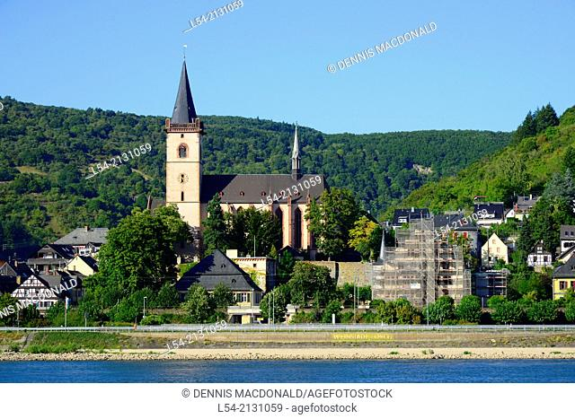 Town on Rhine River Valley Germany Europe Vineyards Wineries Cruise DE