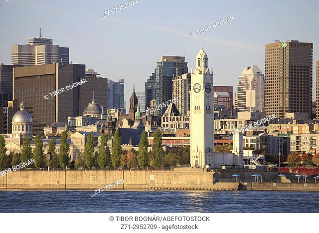 Canada, Quebec, Montreal, skyline, St Lawrence River,