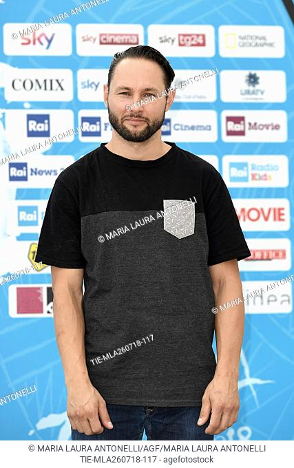 The director of movie White Fang Alexandre Espigares during the photocall at the 48th Giffoni Film Festival, Giffoni, ITALY-26-07-2018